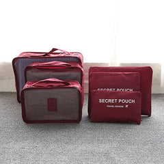 6 Pieces Travel Bag Secret Pouch