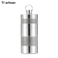 Tiartisan Titanium Storage Case Waterproof Keychain