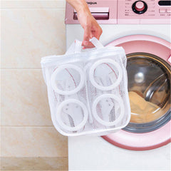 Mesh Foldable Laundry Footwear Bag