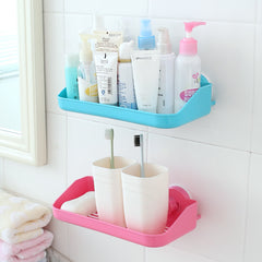 Wall mounted Bathroom and Kitchen Storage Holder Shelf