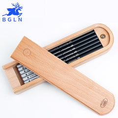 BGLN Wooden Beech Wood Pencil Box