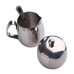 Espresso Stainless Steel Drum Shape Coffee Shop  Sugar Bowl 300ML