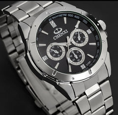 CHENXI Stainless Steel Quartz Movement Couple Watch