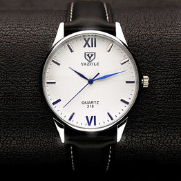 Luxury Soft Leather Strap Couple Retro Brand Watches