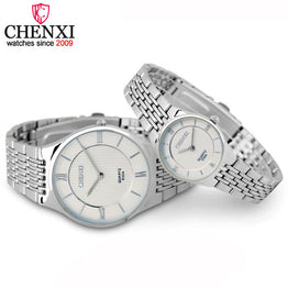 CHENXI Stainless Steel Analog Couple Watch
