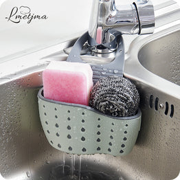 LMETJMA Useful Suction Cup Sink Shelf Soap Sponge Drain Rack Kitchen Sucker