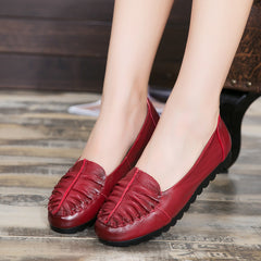 Women's leather Casual Flat Shoes