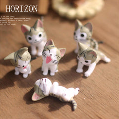 6pcs /set Kawayi Mini Cat Moss Micro World Bonsai Home Garden Decoration