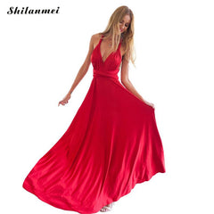 Summer Sexy Red Beach Long Bandage Multiway Convertible Dresses Vestidos 2016