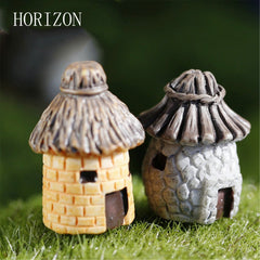 1 pcs banda House Fairy Garden Miniature Cottage DIY Resin Crafts