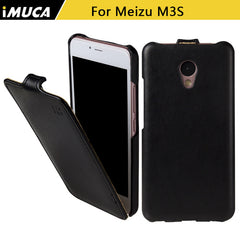 iMUCA Flip Leather Mini Back Cover Case for Meizu M3S/M3 Mini