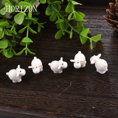 5Pcs / Set Kawaii Mini Sheep Dolphins Animals Home Micro Fairy Garden Figurines Miniatures