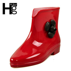 HEE GRAND New Camellia Women Rain Boots