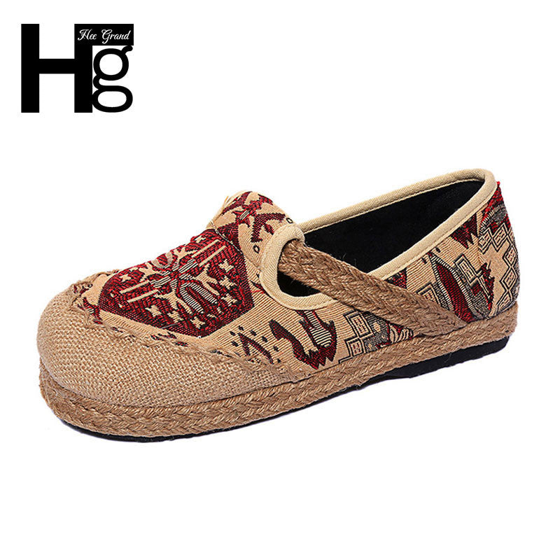 HEE GRAND Old Beijing Folk Design Casual Shoes