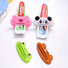 2 PCS/Lot New Cartoon Easy Squeezer Toothpaste Tube Rack Dispenser