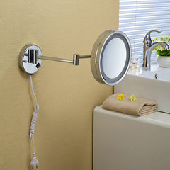 High Quality 10' Brass One Side Bathroom Wall Mounted Round Led Cosmetic Makeup Mirror