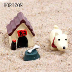 3PCS / Set Cute Resin Dog World Ornaments Accessory Craft Figurines & Miniatures