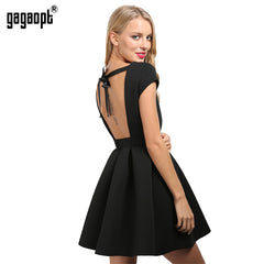 Gagaopt Summer Dresses Sexy Party Princess Open Back Bow Backless Dresses