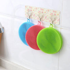 Color Random Practical Silicone Dish Washing Sponge Scrubber Antibacterial Brush Kitchen Tools