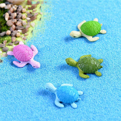 4Pcs Mini Turtle Tortoise Miniature Fairy Garden Decoration DIY