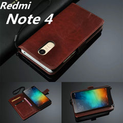 Ultra Thin Wallet Flip Cover Leather Case for Xiaomi Redmi Note 4 Pro