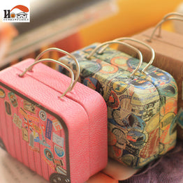 1pcs Europe Style Vintage Suitcase Candy Shape Storage Box