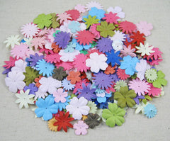 100pcs Approx 17-27MM random mixed colors Paper Daisy Flowers die cut for sticker D027016002(7)