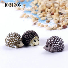 5pcs Hedgehog Fairy Garden Miniatures Micro Landscape Bonsai Plant Garden Decor