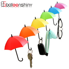 BalleenShiny 3pieces/lot Umbrella Shaped Creative Key Hanger