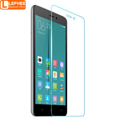 LEPHEE Tempered Glass Screen Protector for Xiaomi Redmi 3S