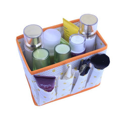 DINIWELL Home Foldable Make Up Organizer Cosmetic Makeup Storage Box