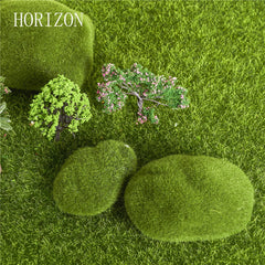 3 pcs Hot Sale Green Artificial Moss Home Ornament Bonsai Micro Landscape Decoration