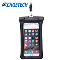 CHOETECH Inflatable 30M Waterproof Pouch for iPhone 5/5s/6/6s/Plus and Samsung/LG/Xiaomi