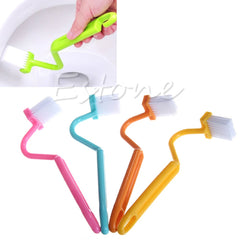 1 piece NEW S-type Toilet Sanitary Set Curved Bent Handle Cleaning Scrubber Brush