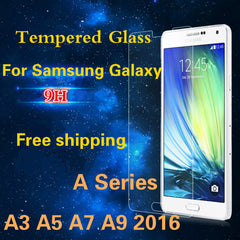 0.3mm 9H 2.5D Tempered Glass Anti Shatter Screen Protector for Samsung Galaxy A3/A5/A7/A9