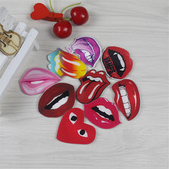 1 piece Acrylic Fridge magnets Home Decor Creative funny Red lips