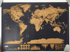 1 pc Deluxe Map Personalized World Map Mini Scratch Off Foil Layer Coating Poster 42x30cm