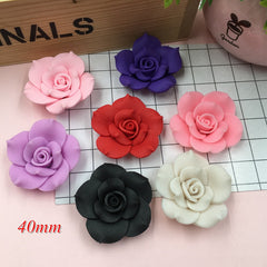 Free Shipping!! Resin Newest Big Clay Flower for Crafts Making, Scrapbooking, DIY (40mm)