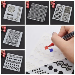 Interesting Layering Stencils Various Shape Template Craft