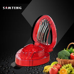 Kitchen gadget, strawberry slicer, stainless steel blade salad cut handle