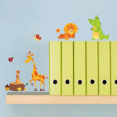 Jungle Adventure Animals Wall Stickers for Kids Rooms