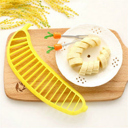 Banana Slicer Chopper Cutter Plastic Salad Make Tool