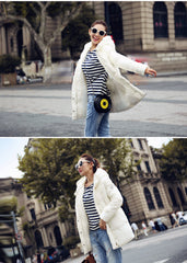 Long Parkas Female Women Winter Coat Jacket  Outwear