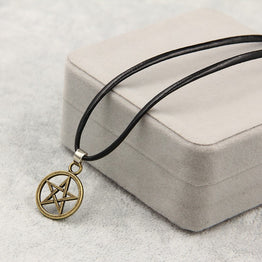 Pentagram Pendant Helsing Satan Logo Necklace for Women