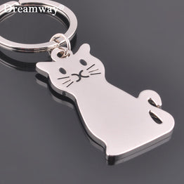 Personalized Metal Cat key holder key chains for women bag