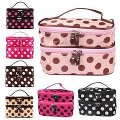 Portable Women Lady 2 Layers Cosmetic Set Beauty Toiletry Bag