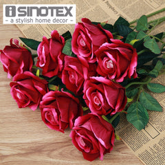 10 Pcs/Lot Wedding Decoration Rose Artificial Flowers Romantic Date /Party Sending Roses