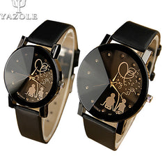YAZOLE Cartoon Quartz Movement Couple Watch