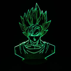 Dragon Ball Z Super Saiyan 3 Goku 3d Lamp