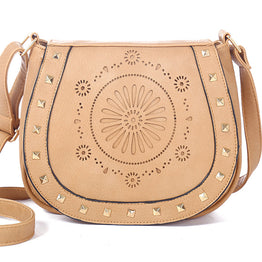 Vintage Casual PU hollow out crossbody bags for Women